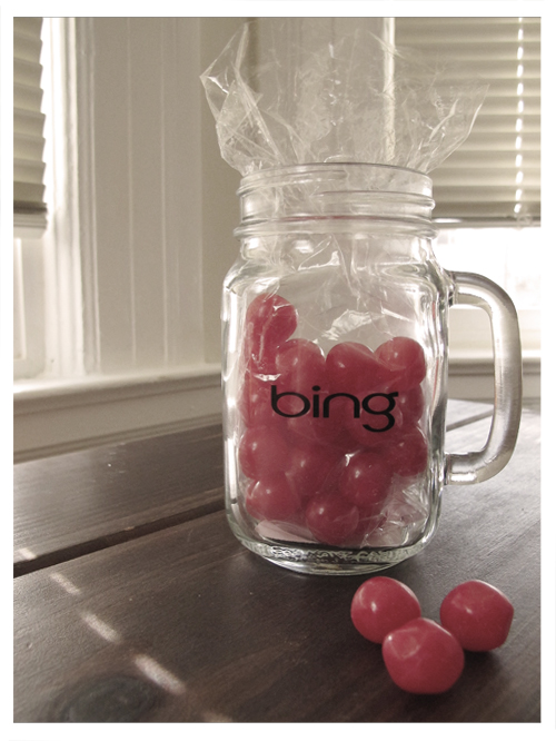 Mason Jar Mug from Bing filled with Candy from Sweet Candy Co