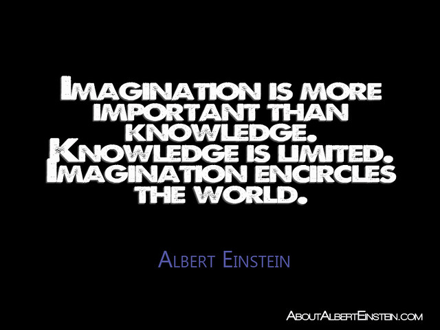 einstein imagination is more important than knowledge essay