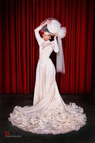 Grace modeling a vintage dress