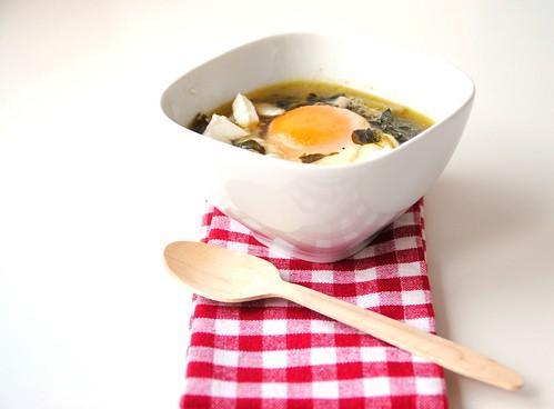 sopa de beldroegas e alho francês