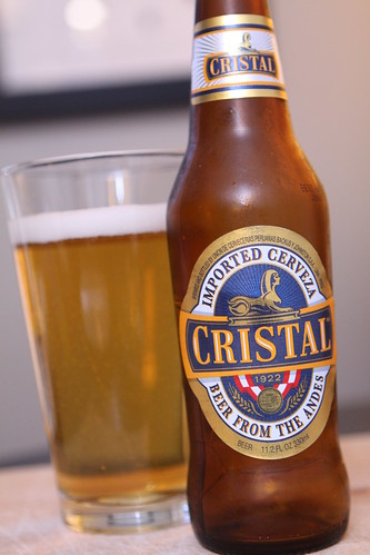 Cristal Beer from the Andes