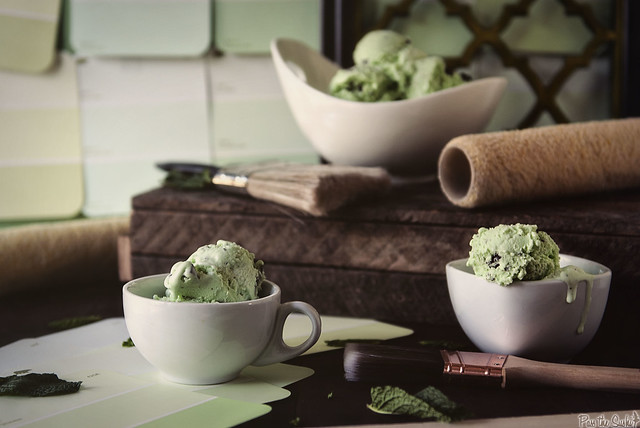 Mint Chocolate Chip Ice Cream from PasstheSushi.com