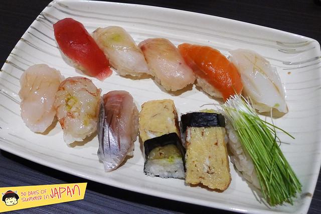Sushi Bar YASUDA in Tokyo - 10 pieces sushi assortment