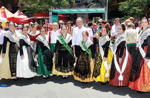 El President de la Generalitat, Alberto Fabra, asiste a la mascletà con motivo de las Hogueras de San Juan. Alicante, 23/06/2013.
