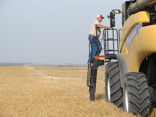 Z Crew: Jim climbing into the combine