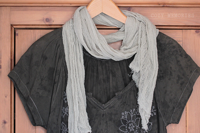 naturally dyed tops & scarves