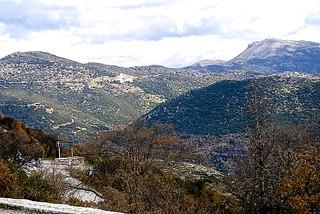 Mountainous terrain at Bassae in Arcadia