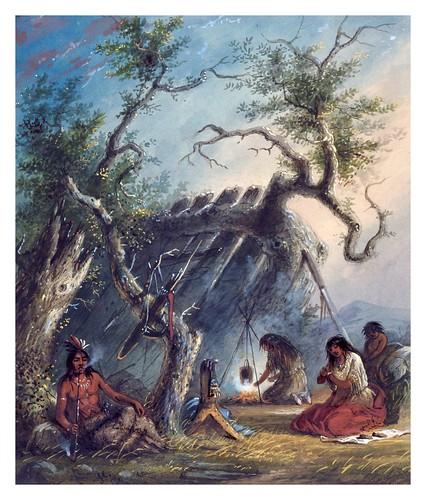 008- Cabaña india-Alfred Jacob Miller-1858-1860-Walters Art Museum