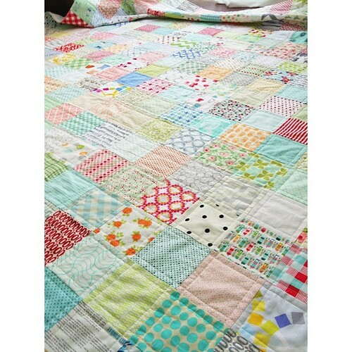 quilted low volume quilt