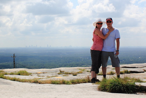 On top of Stone Mountain, Atlanta, Georgia