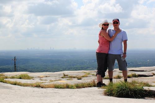 On top of Stone Mountain, Atlanta, Georgia