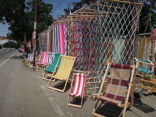 椅子の露店