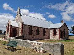 The money church. Depicted on Australian $50 note. Raukkan Aboriginal Church, South Australia.