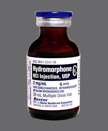 hydromorphone iv 2mg 20ml vial Baxter