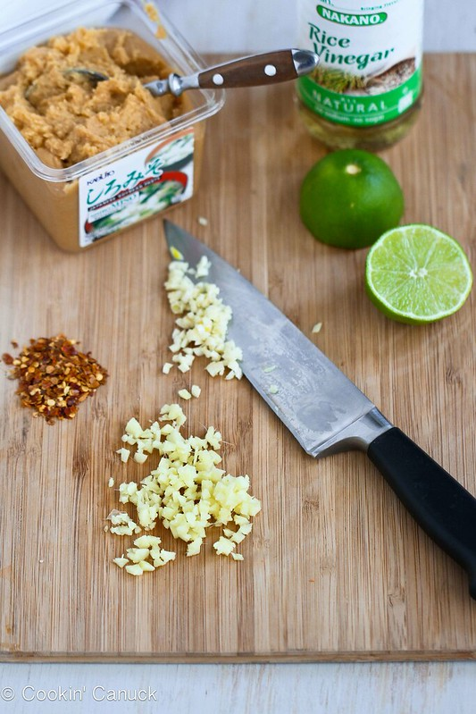 Shrimp & Zucchini Stir-Fry Recipe with Miso Lime Sauce | cookincanuck.com #recipe #stirfry #healthyrecipes