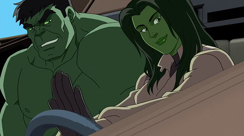 Hulk and his cousin She Hulk