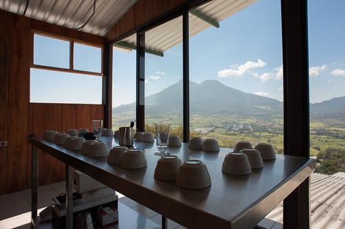 New cupping room of Beneficio Monte Benny
