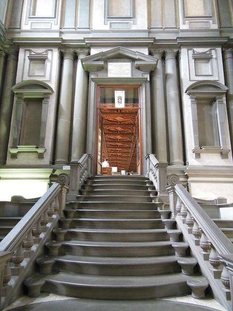 la escalera de la biblioteca laurenciana miguel ngel