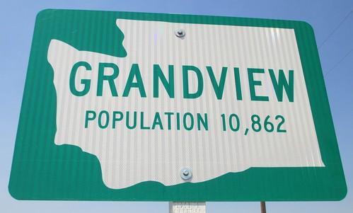Grandview Welcome Sign (Grandview, Washington)