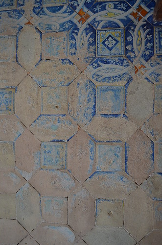 Chateau de Chenonceau faded floor tiles