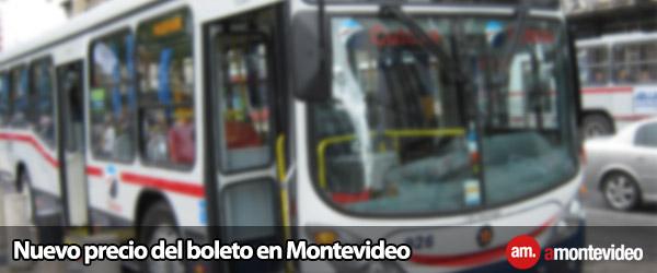 Nuevo precio del boleto en Montevideo