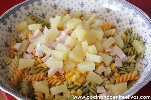 Ensalada de pasta con piña www.cocinandoentreolivos (8)