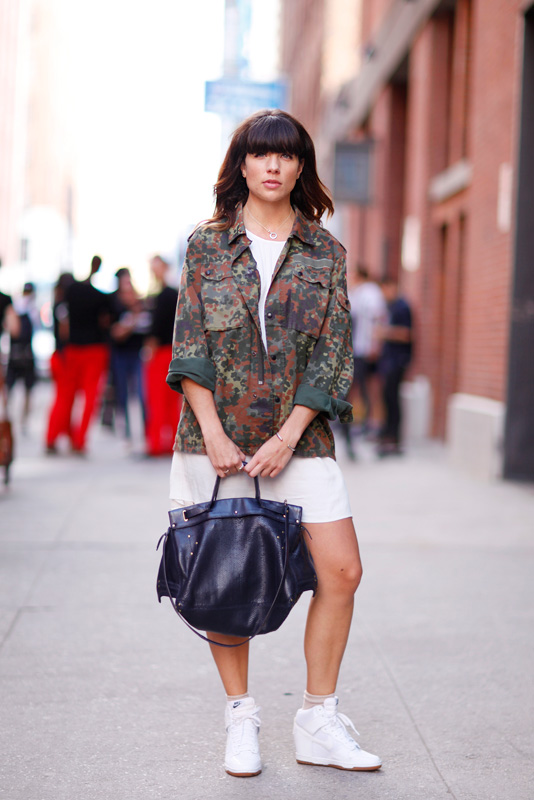 camowhite_ss2014 MadeFW, NYFW, Quick Shots, street fashion, street style, W. 15th Street, women