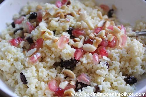 Couscous dulce con pasas y granada (15)