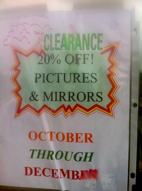 thrift store sale