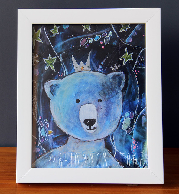 The Little Polar Bear_framed