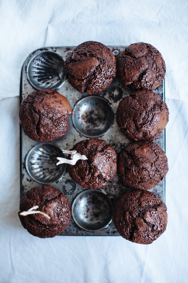 Call me cupcake: Double chocolate muffins and chocolate chip cookies