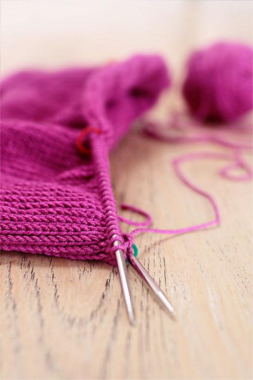 Pink-Knitting