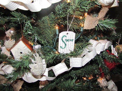 Detail of tree- Steve's name tag
