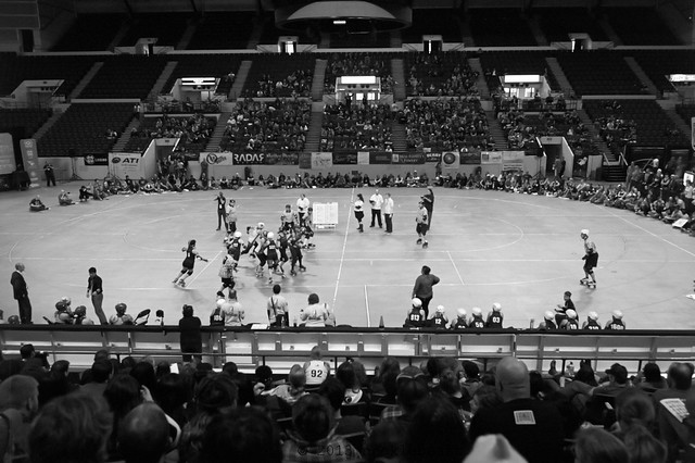 The U.S. Cellular Arena as a venue for, yeah, that's right, roller derby!