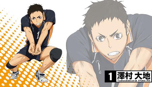 131120(2) - 2014年4月新動畫《ハイキュー!!》(排球少年)發表第二批「烏野高校」共3位角色造型&幕後聲優! 1