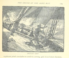 """British Library digitised image from page 117 of """"The Cruise of the Alice May in the Gulf of St. Lawrence and adjacent waters. With numerous illustrations [by M. J. Burns] . Reprinted from the 'Century Magazine.'"""""""