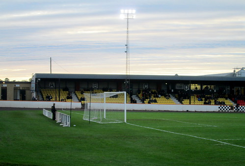 Shielfield Park, Near Goal and Stand