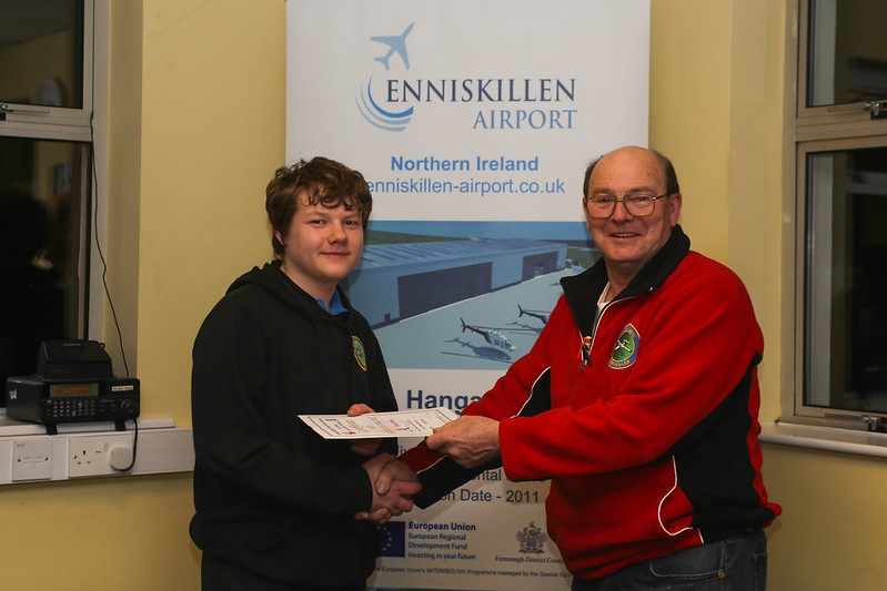 Nathan Shirley receives his A-Certificate Fixed Wing