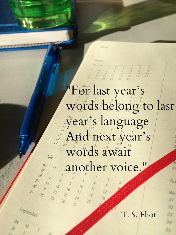 Eliot quote new year