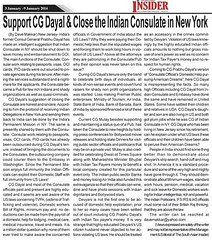 CG Dayal: Close Indian Consulate in New York