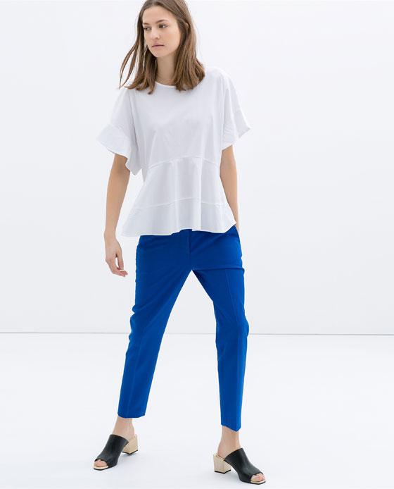pantalón azul zara