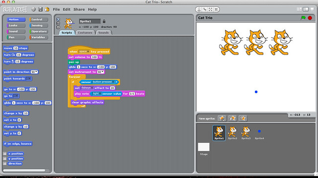 Scratch Programming Screen