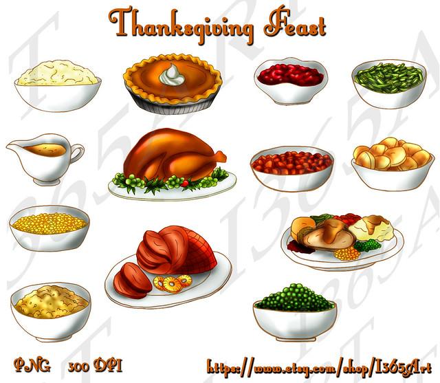 thanksgiving Dinner Clipart Set | Flickr - Photo Sharing!