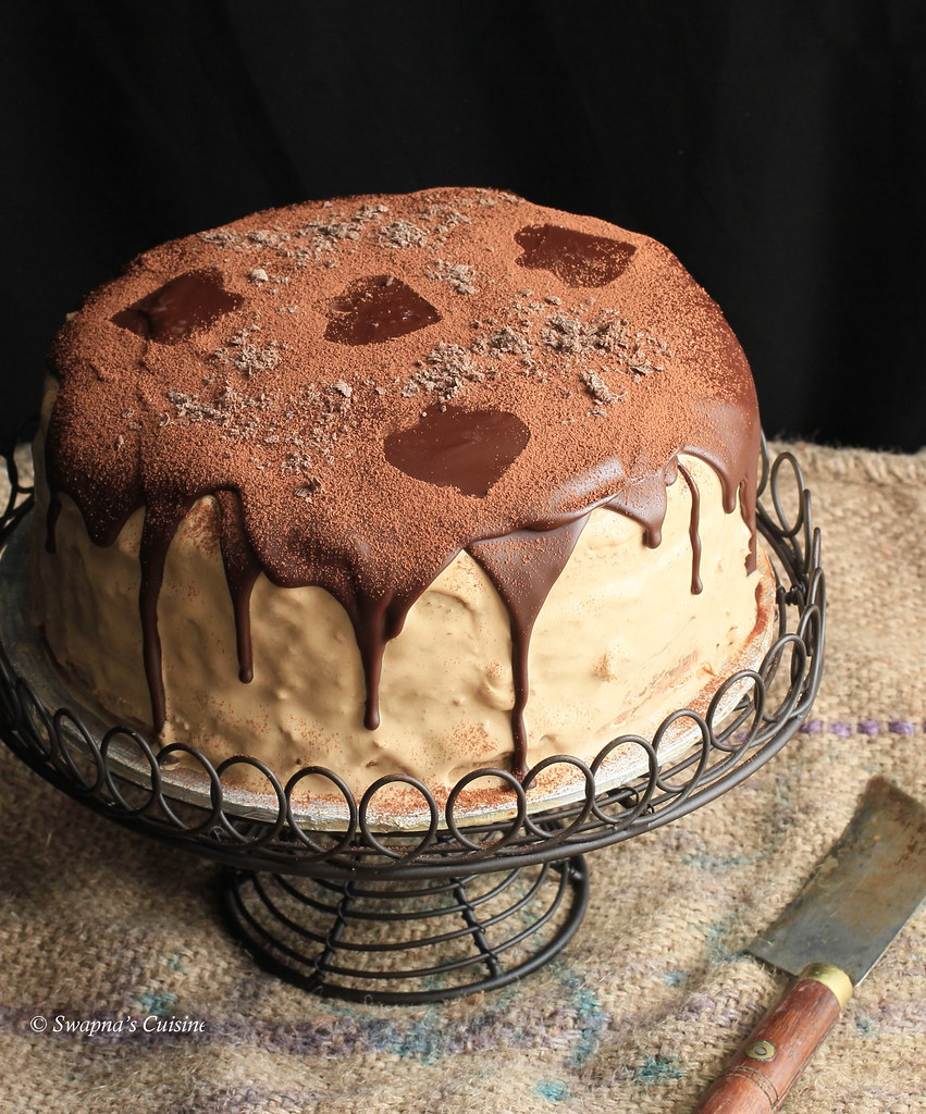 Swapna's Cuisine: Coffee Chocolate Mascarpone Layered Cake