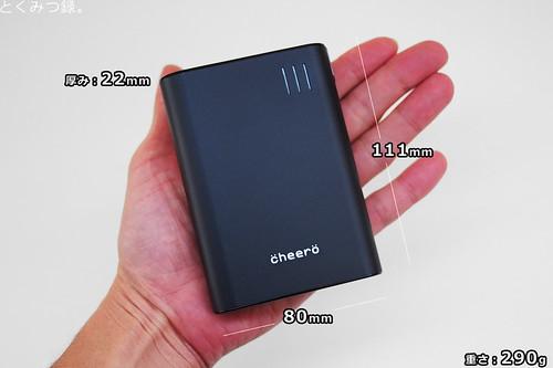 サイズ cheero Power Plus 2 10400mAh 大容量モバイルバッテリー
