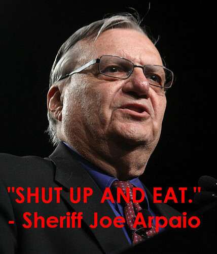 Sherriff Joe arpaio