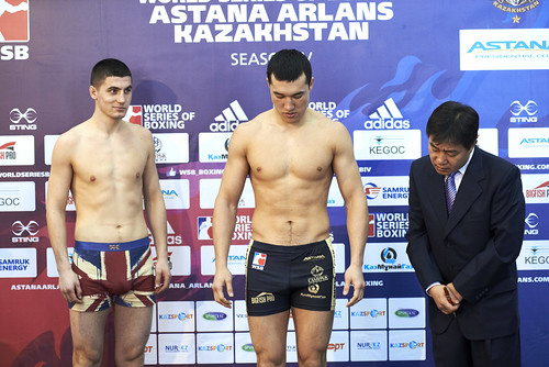 28/02/2014 WEIGH IN ASTANA ARLANS KAZAKHSTAN vs HUSSARS POLAND
