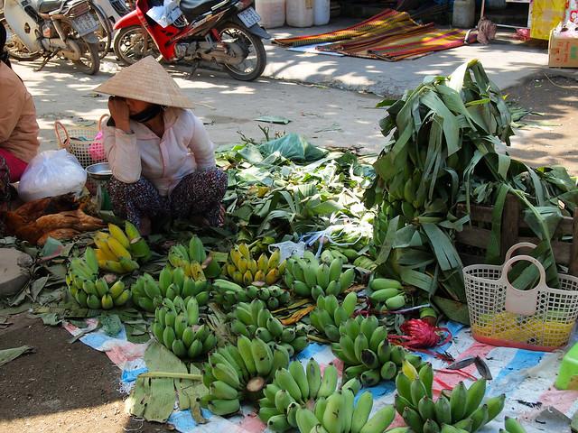Rural market in Vietnam