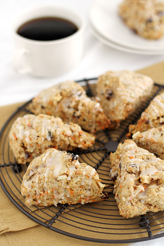 Morning Glory Scones | girlversusdough.com @stephmwise