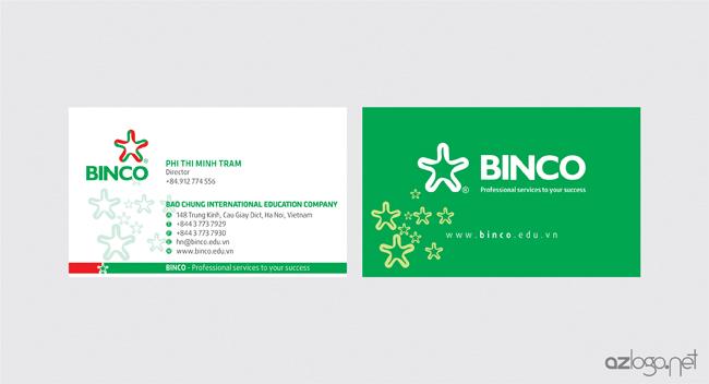 Thiết kế danh thiếp công ty tư vấn du học BINCO
